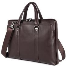 100% Genuine Leather Mens Handbag Messenger Bag For Business Men Briefcase 7326A