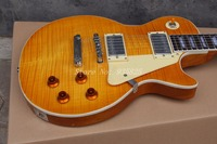 In Stock Chibson Yellow Burst Les Chinese Paul LP Style Standard Electric Guitar With Ebony Fingerboard