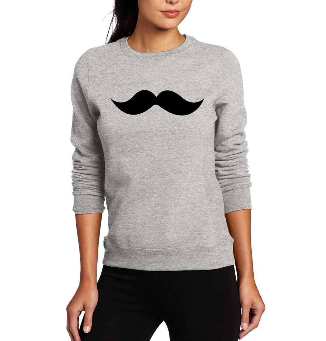 Moustache Print Sweatshirts  2