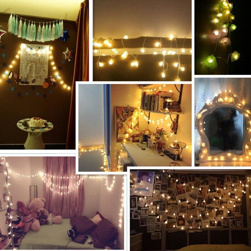 LED Kugel Lichterketten Für Schlafzimmer gerlyanda Xas Garland ...