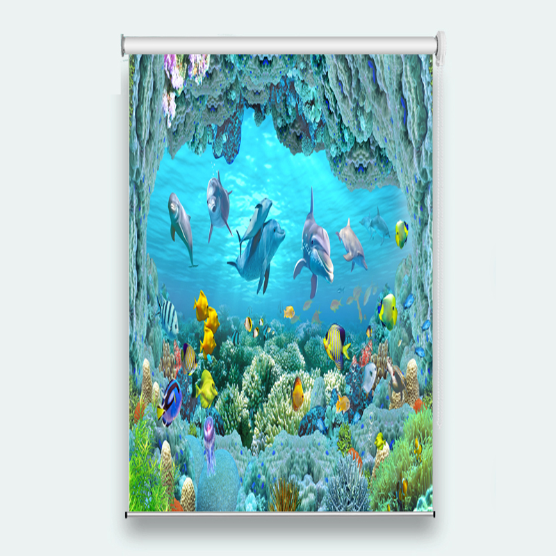 dolphin 3D Roller Blind for Any room decoration Printing Roller Blinds Curtains         dolphin 3D Roller Blind for Any room decoration Printing Roller Blinds Curtains