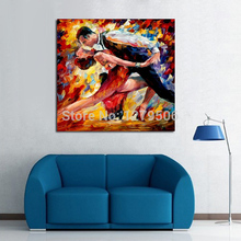 100%Handpainted Abstract Lovers Tango Knife Oil Painting On Canvas Thick Wall Picture For Home Decor As Best Gift