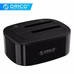 ORICO 2.5/3.5 pollici Hard Drive Docking Station USB3.0 1 a 1 Clone Dual-bay HDD e SSD hard Drive Dock-Nero (6228US3-C)