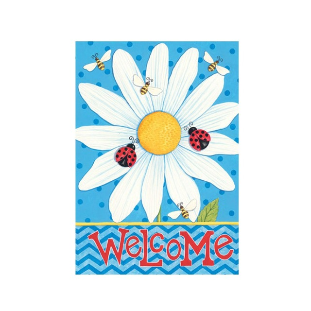 Welcome Summer Garden Flag Designed With Double Sided Decorative ...