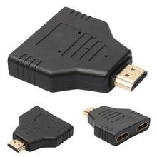 HDMI ชายคู่ HDMI หญิง 1 ถึง 2 WAY Splitter Adapter สำหรับ HD TV Hot DH สำหรับ Xbox Blueray เครื่องเล่น DVD PS3 Drop Shipping