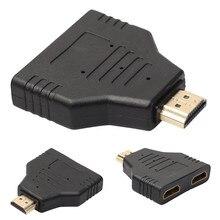 HDMI Maschio A Doppio HDMI Femmina 1 a 2 Vie Splitter Adattatore Per HD TV Hot DH per Xbox Blueray lettori DVD PS3 Trasporto di Goccia