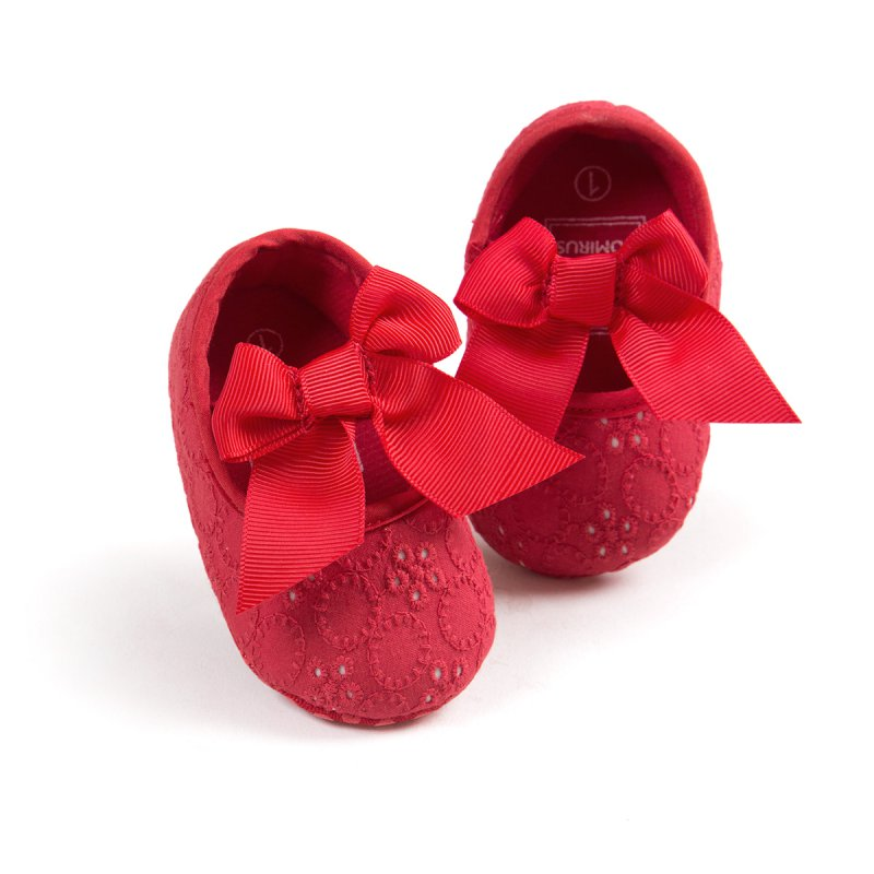 Butterfly Knot First Sole Summer Soft Sole Girl Baby Shoes Cotton First Walkers Baby Girl Shoes