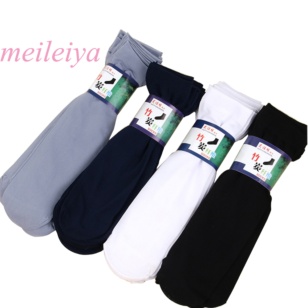 MEILEIYA 10 pairs/bag high quality summer thin section socks Breathable and deodorant the men socks business men rayon socks