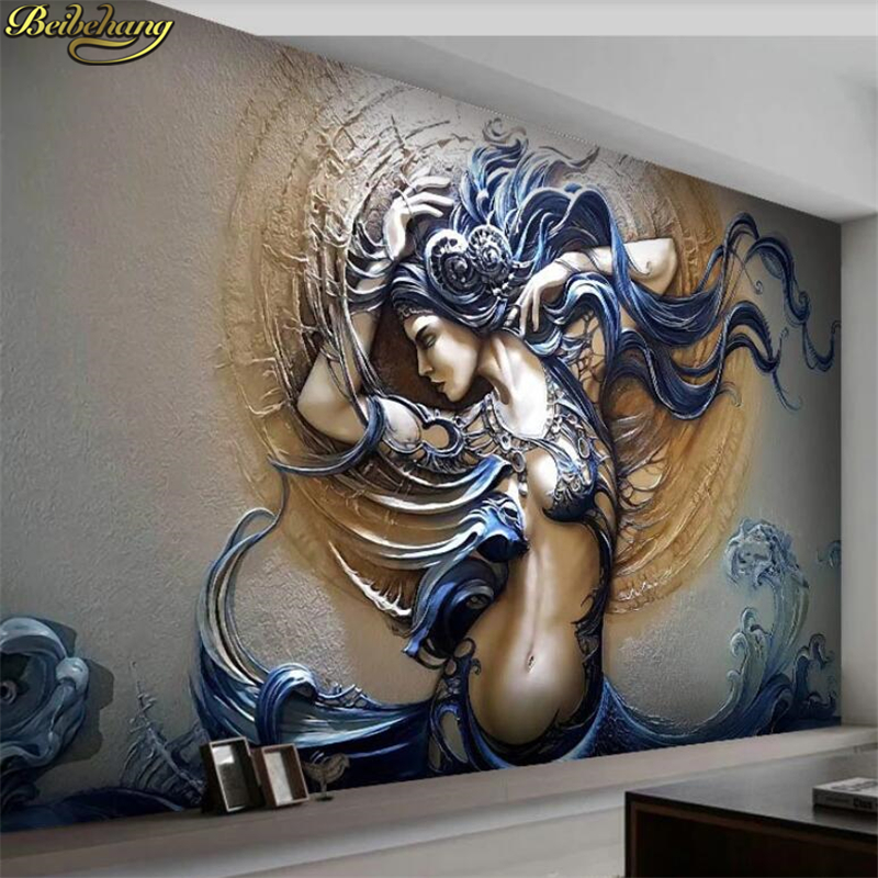 Custom Mural Wallpaper For Walls 3D Stereoscopic Embossed Fashion Art Beauty Bedroom TV Background Home Wall Decoration Painting