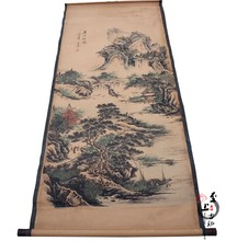 China calligraphy and painting of landscape Scroll painting(China)