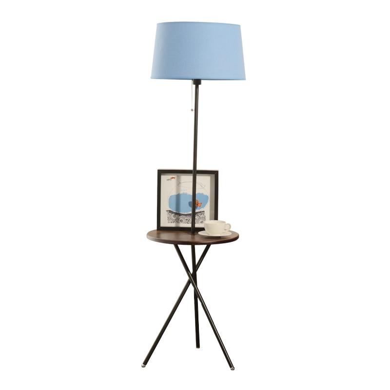 Modern Wood Table Floor Lamp 5w Led Bulb Living Room Bedroom