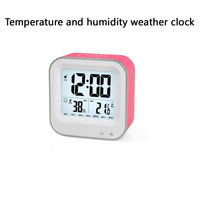 Hot Selling Rechargeable Smart Desktop Alarm Clock Students Clock With Snooze Temperature And Humidity Weather Electron