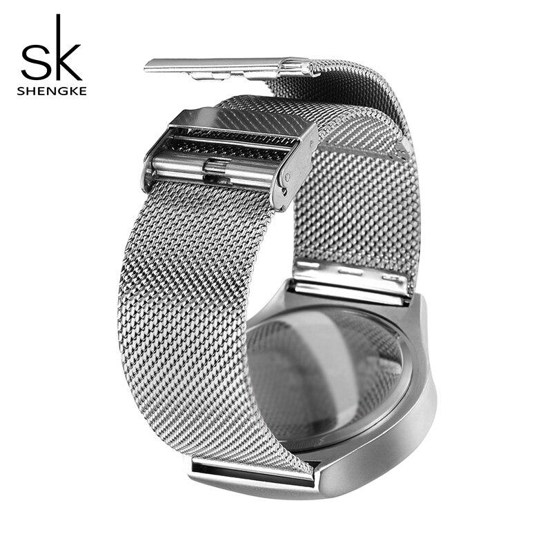 Купить часы кварцевые женские и мужские из нержавеющей стали 2019 sk