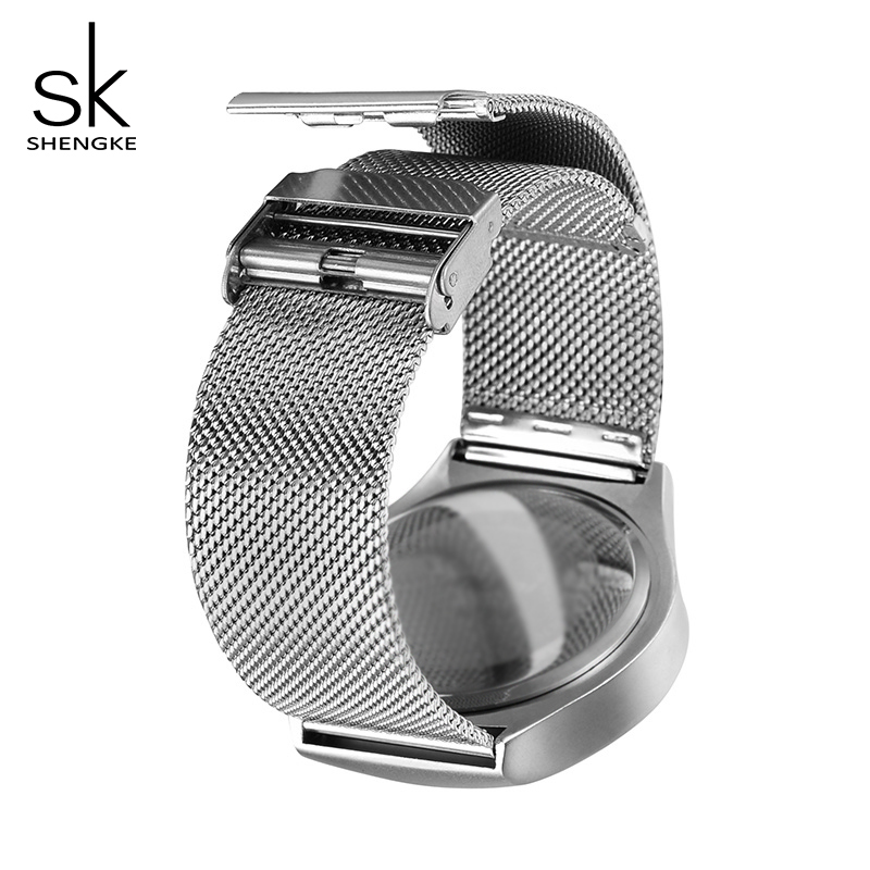 Image 5 - 2020 SK Creative Women Quartz Watchbands Luxury Watches Women Fashion Stainless Steel Wrist Watch Ladies Clock Reloj Mujer GiftWomens Watches   -