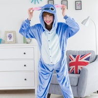 Kigurums Animal Stitch Onesie Adult Unisex Cosplay Costume Pajamas All In One For Party Jumpsuit