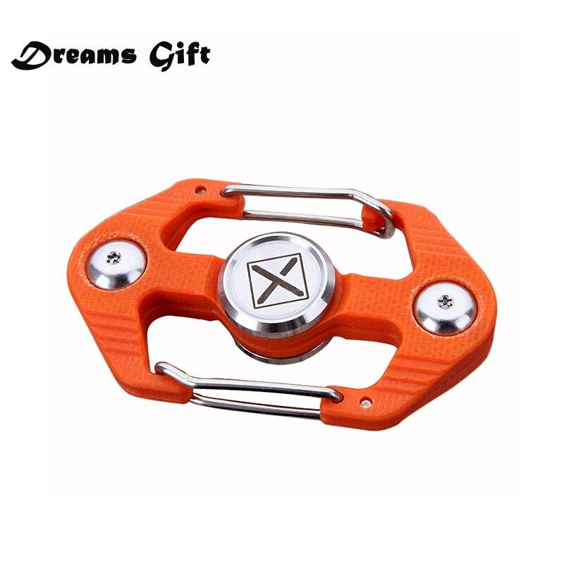 New Fidget Spinner Hand Spinner Metal EDC Multifunction Key Chain Stainless Steel Opener Climbing Buckle Handspinner Toys SL448