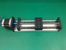 GX80 1605 انزلاق الجدول فعالة السكتة الدماغية 300 مللي متر دليل السكك الحديدية XYZ محور الحركة الخطية + 1 قطعة nema 23 محرك متدرج