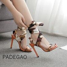 أحذية فاخرة للنساء المصممين صنادل عالية الكعب ريباند 2019 أحذية أنيقة غير رسمية للحفلات للسيدات