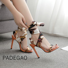 Luxury Shoes Women Designers High Heels Riband Sandals 2019 Party Casual Elegant Ladies Shoes