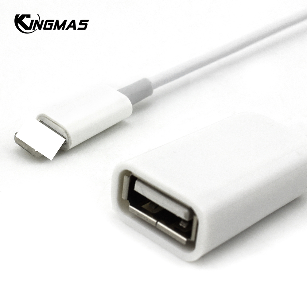 USB OTG Adapter Cable Data Transfer Connector Converter For Apple IPhone X 5 6 7 8 Plus IPad For Tablet Camera