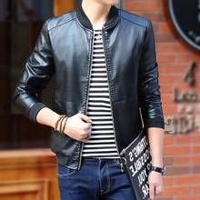 Men's Spring PU Leather Jackets Coats Slim Fit Motorcycle Leather Jackets Men Autumn Male Casual Brand Clothing 4XL Factory