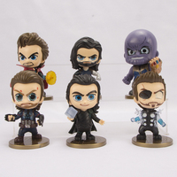 FUNKO POP 6pcs/set Marvel Avengers Super Hero Characters Model Vinyl Action Figures anime figure toys for children