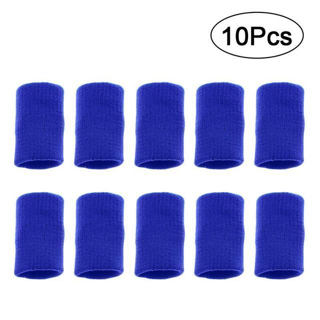 10 piezas de voleibol dedo cinta elástico dedo Protector manga artritis apoyo deportes ayuda