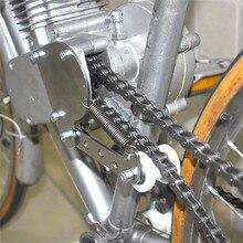 Пружинный натяжитель цепи, быстросъемный протектор, инструмент для чистки, подходит для 49cc 50cc 66cc 80cc двигателя, моторизованный велосипед, серебристый