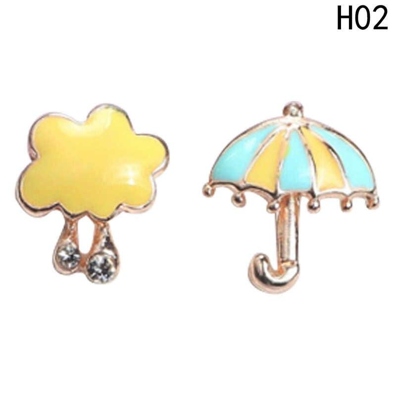 """Милая повязка на голову для маленьких серьги-гвоздики Для женщин маленькая Сова птица розовый зонт """"фламинго"""" серьги-гвоздики ювелирное изделие для детей"""