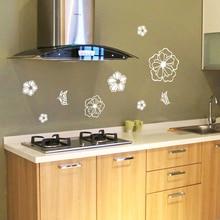 1 шт. холодильник Стикеры Наклейки на стену-бабочки и цветы Форма-Спальня детей номеров украшение дома Книги по искусству Стикеры плакат