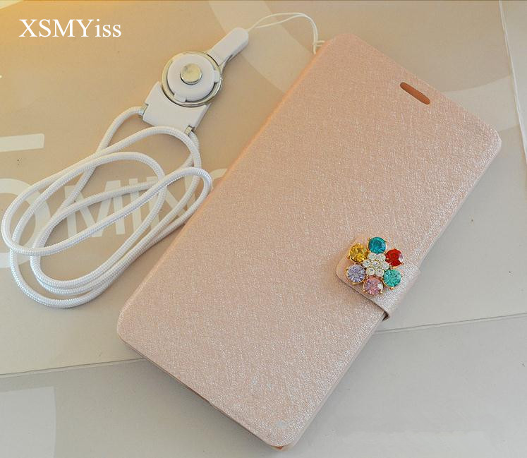 XSMYiss Handmade Bling Diamond Rhinestone PU Leather Filp Cover Wallet Case for iphone 5 ...