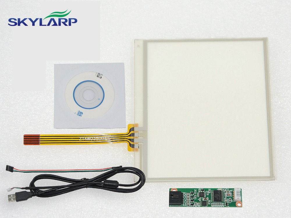 NEW 3.5 4 Wire Resistive Touch Screen Panel USB Controller for Replacement 77*64mm Screen touch panel Glass Free shipping