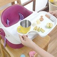 Детские Портативный складной стул Дети PU Подушки обеденный стол Дети Фиолетовый PP Материал малыша Кормление стол обеденный