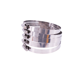 10pcs Stainless Steel Screw Pipe Clamp Lock Drive Hose Clamp Worm Drive Fuel Water Hose Pipe Clamps Hardware Fixed Fixture 10x stainless steel mini fuel hose clamp line pipe tube clips screw 8mm