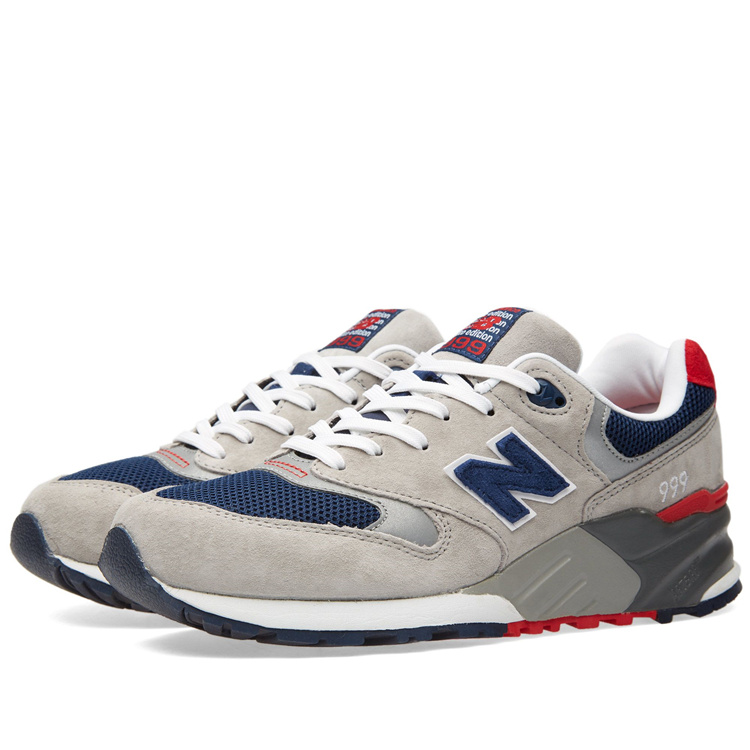 New Balance Mens Womens Sneakers 999 Elite Edition Vintage Light Grey Navy Red ML999AE Training Tennis Shoe Big Size 36-44 new balance 999 ceremonial page 1