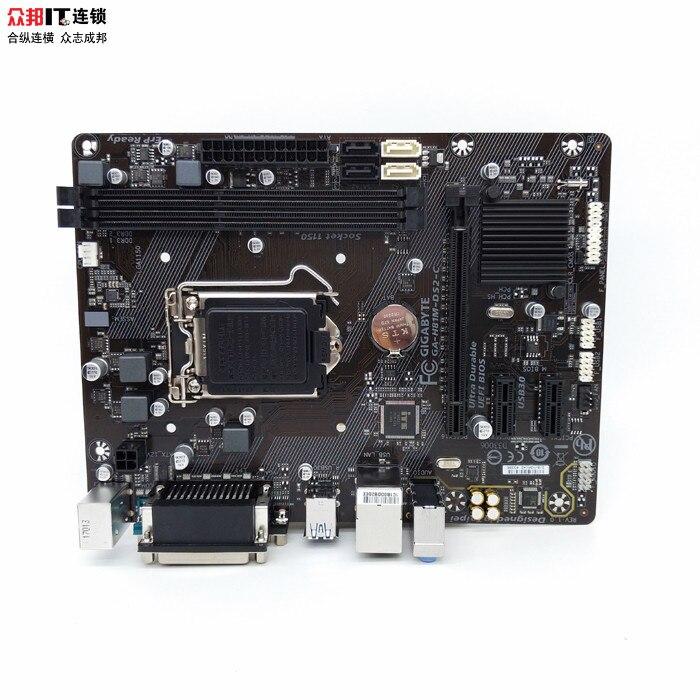 Gigabyte GA-H81M-DS2 H81 motherboard LGA1150 pin support G3260 gigabyte ga h81m s1