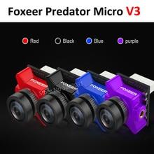 Chegam novas Câmera FPV Predador Micro V3 Foxeer 16:9/4:3 PAL/NTSC comutável Super WDR OSD 4 ms latência para Corridas Zangão RC Modelo