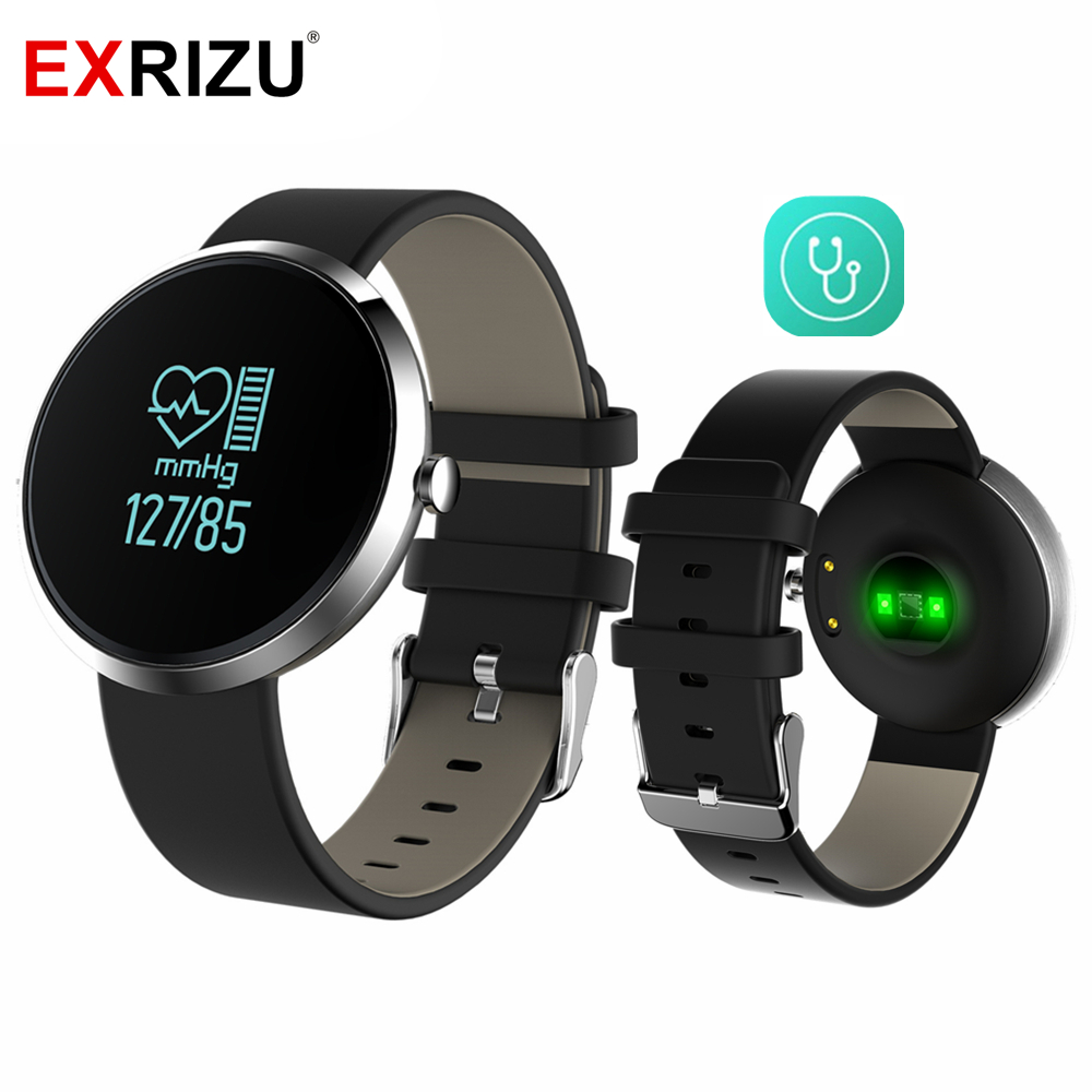 EXRIZU V06 Sport Pedometer Waterproof Bluetooth Smart Wristband Watch Health Fitness Tracker Blood Pressure Heart Rate Monitor sports fitness tracker smart watch bracelet i7 bluetooth 4 0 wristband waterproof health heart rate monitor