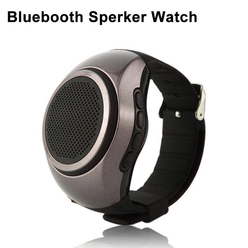Новый смарт часы Bluetooth TF fm-радио наручные открытый Динамик часы Портативный Soundbar стерео Спорт Handsfree телефонный звонок Smartwatch