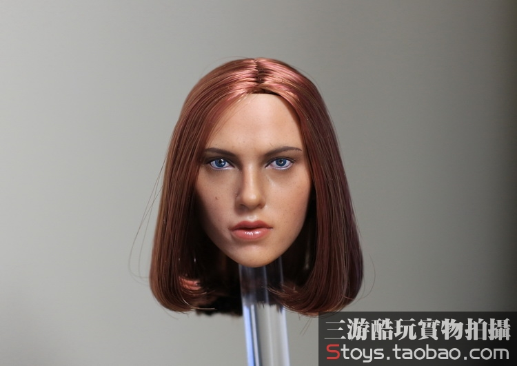 1/6 figure doll female head shape for 12Action figure doll accessories The Avengers Black Widow head carved,16B2626 poptoys 1 6 soldier accessories the avengers loki loki windbreaker suit with cane for 12 action figure doll toys