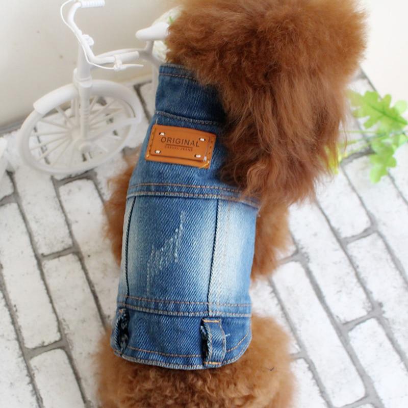 Primavera Otoño Jeans Pequeño Perro Mediano Ropa Denim Dog Jeans - Productos animales