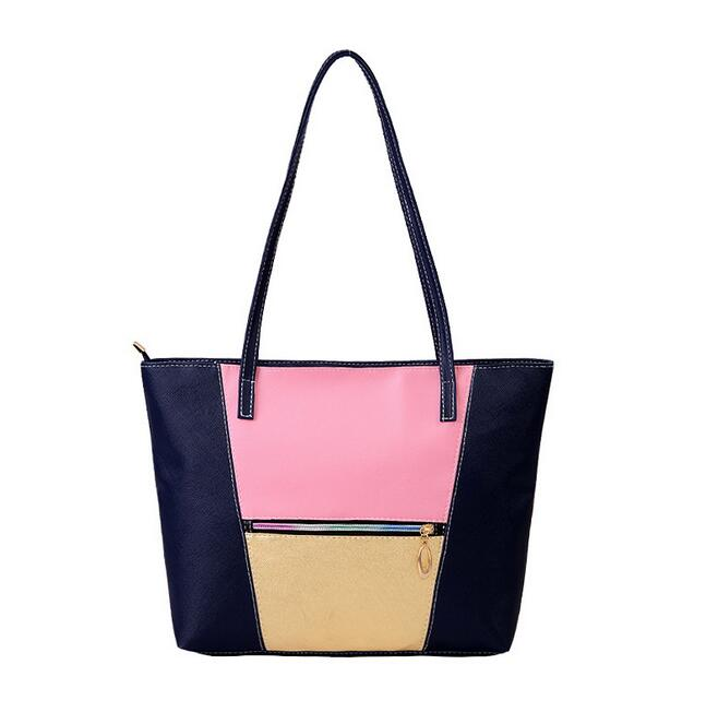 7f7d8f602319 2016 Осень Мода Новый Сумки качество Искусственная кожа Для женщин сумка  высокой емкости шить хит цвет дикий Тотт сумка женская сумка