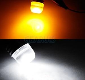 Image 5 - 10pcs S25 P21W 1156 BA15S Strobe flash 3W Lens 3 SMD 7020 LED Car turn signal light stop parking lights lamp 12V white yellow