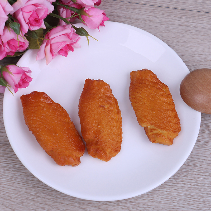 Dollhouse 3D Artificial Simulation PVC Simulation Fake Chicken Wings Food Models For Trick Home Kitchen Wedding Kitchen Toy
