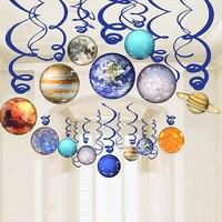 30 шт./компл. Юпитер Mars звезда потолок подвесные колпаки День рождения украшения дети галактика, планета гирлянда детский Душ Поставки