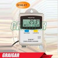 S100 ET + ЖК дисплей дисплей 43000 показания температуры регистратор данных Высокая Точность Temp.