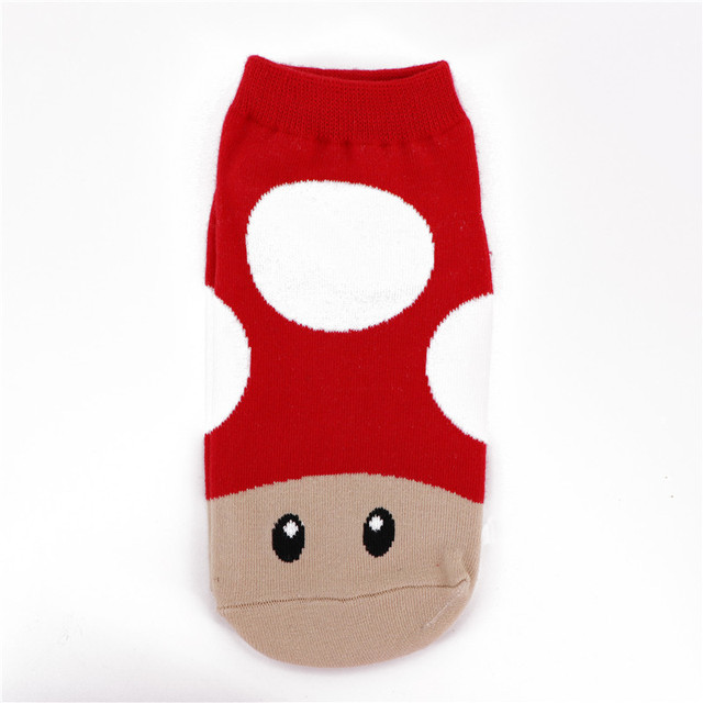 finest selection fab74 d4fb4 CRAZY FLY New Fashion Cotton Women Socks Funny Cartoon Super Mario Luigi  Yoshi Crazy Socks Ankle Short Socks Summer Style Hot