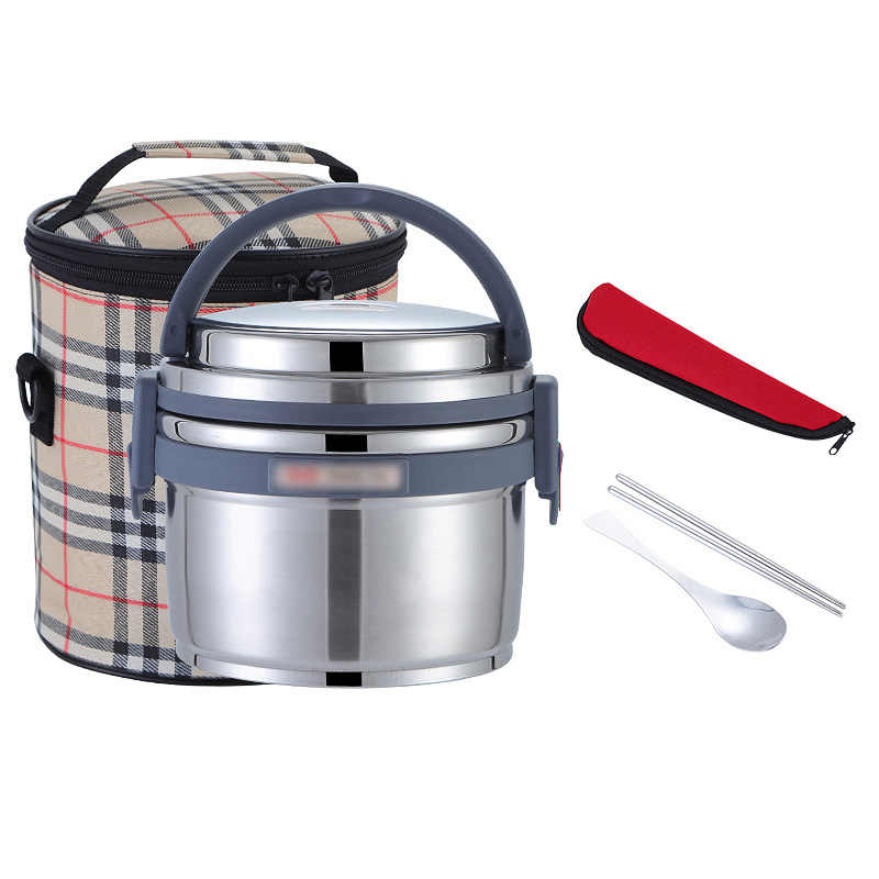 8 Hours Vacuum Thermal Insulation Leakproof Stainless Steel Lunch Box Set Portable Kids School Bento Box Thermos Food Container