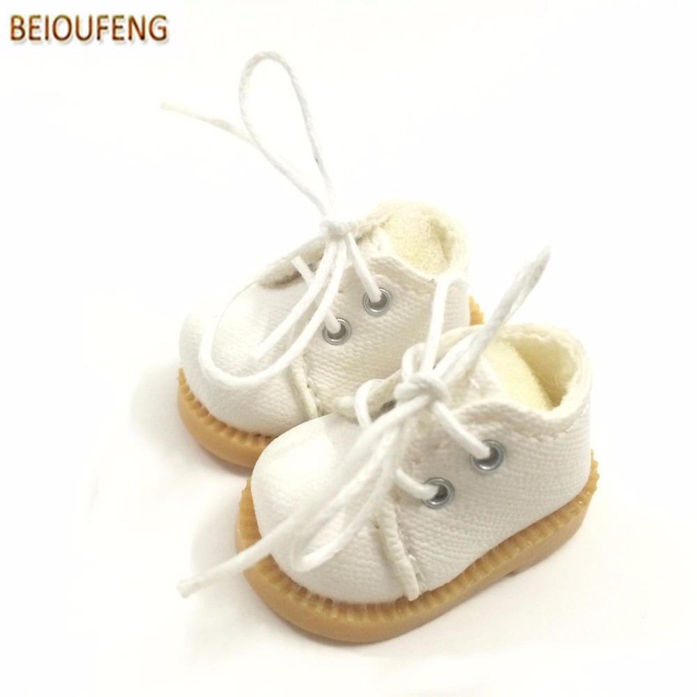 BEIOUFENG 3 8CM Fashion Doll Shoes for Blythe Doll Toy Mini Gym Shoes Sneakers for Dolls