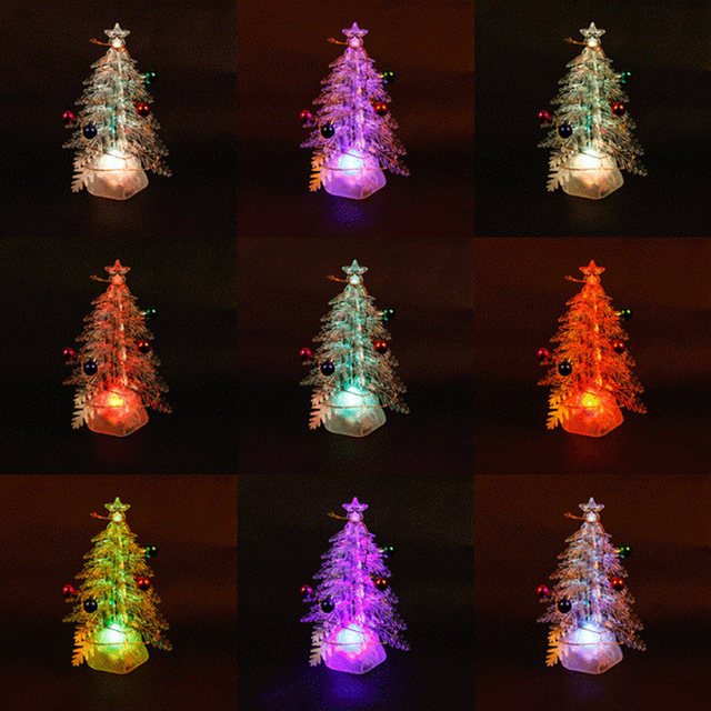 online shop diy led light christmas tree pvc xmas light artificial white pinkpurplegreen christmas xmas tree neon table light decoration aliexpress